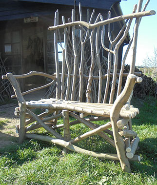 make your own rustic chair